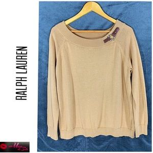 Ralph Lauren Sweater with Equestrian Accent